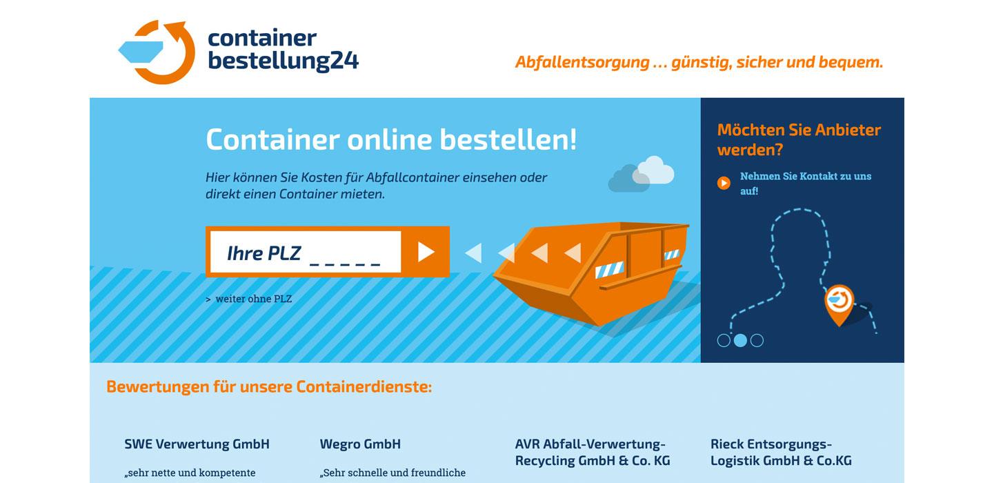 Web Containerbestellung24 Header