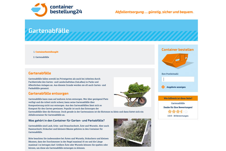 Web Containerbestellung24 Text