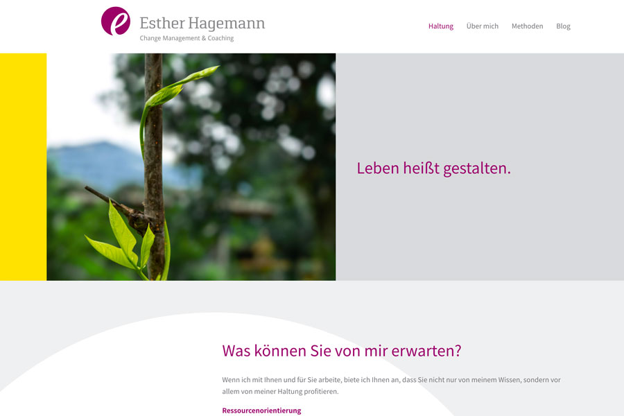 Web Estherhagemann Haltung