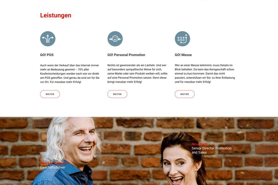 Web Go! Promotion Leistungen