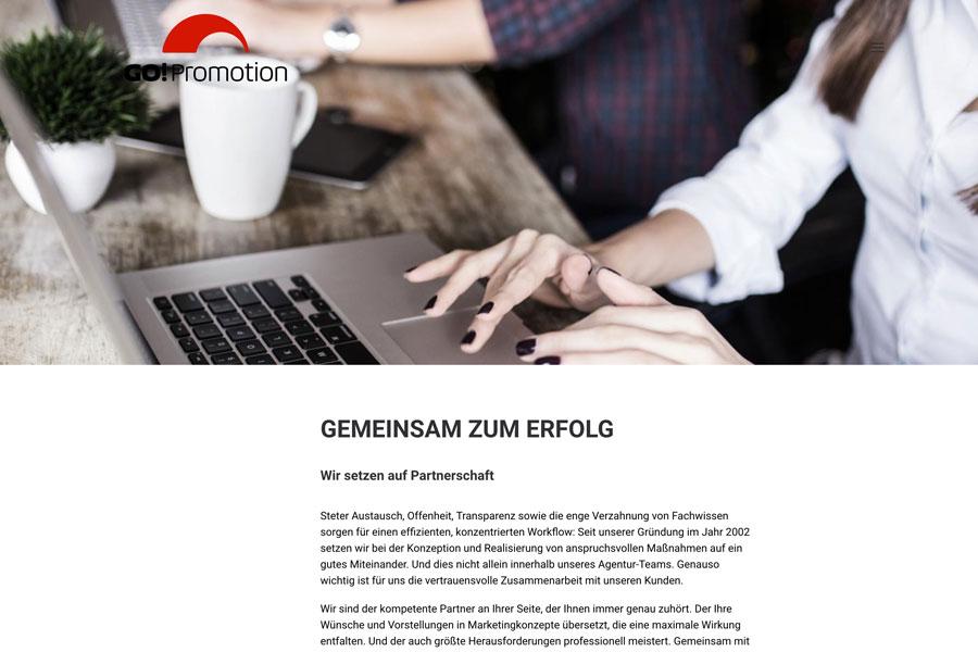 Web Go! Promotion Unterseite